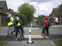 Shared use across residential road