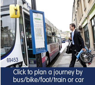 Plan a journey by bus, bike, train, foot or car